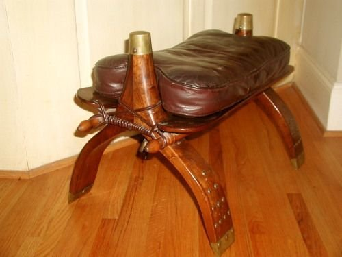 Camel Seat Leather Footstool Early 1900 S Turkey Lot 21458