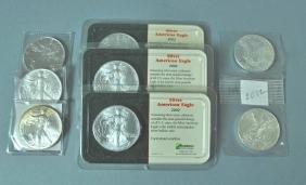 (8) UNCIRCULATED AMERICAN EAGLE SILVER DOLLARS