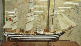LARGE SHIP MODEL OF THE AMERIGO VESPUCCI