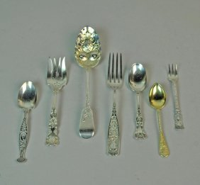 (36) Piece Assorted Silver Flatware Group