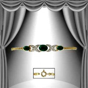 4.7 CT Emerald Diamond Bracelet
