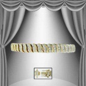 """""""ALL FOR LOVE"""" 1.50 CTW Diamond Tennis Bracelet 18K"""