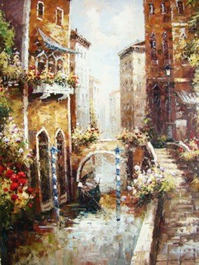 "Impressionist Painting ""Venice Love"""