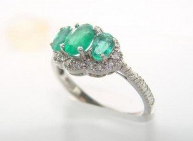 Columbia Emerald & Diamond Ring Appraised $10,270