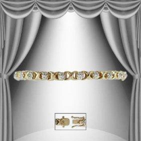 """Hugs And Kisses"" 1.53 CTW Diamond Tennis Bracelet"