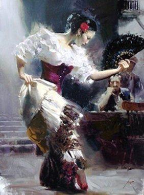 Pino THE DANCER Ltd Ed. Giclee On Canvas