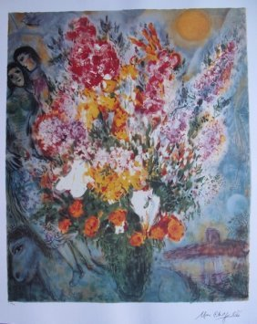 Marc Chagall ORIGINAL BOUQUET Limited Ed. Lithogra