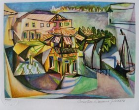 Picasso CAFE AT ROYAN Limited Ed. Giclee