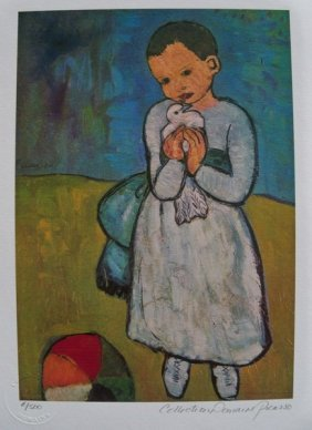 Picasso CHILD WITH DOVE Limited Ed. Giclee
