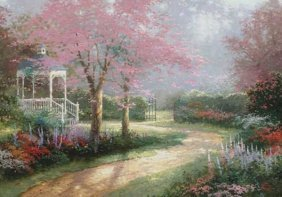"Thomas Kinkade ""Morning Dogwood"""