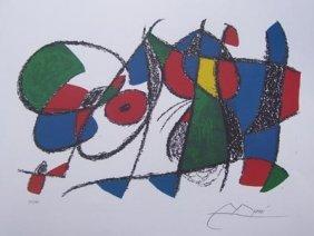 Joan Miro VOLUME II, LITHO VIII Ltd Ed. Plate Signe