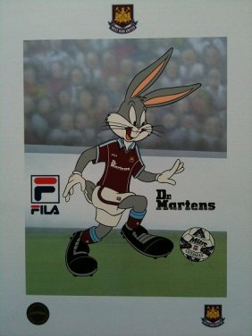 McKimson Bugs Bunny Soccer Lithograph