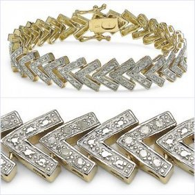 Full 3/4 CTW Diamonds Designer Bracelet