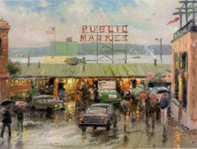 "Thomas Kinkade ""Pike Place Market"""