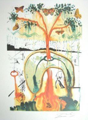 "Dali Ltd Ed. Lithograph ""mad Hatters Tea Party"""