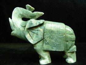 Pair Of Jade Elephants