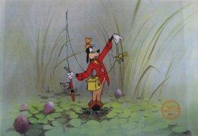 Disney Goofy How To Fish Original Serigraph Cel