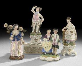 Four Porcelain Figures In 18th Century Costume