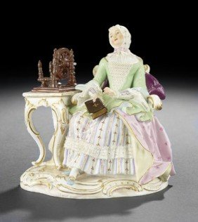 """Meissen """"Lace"""" Porcelain Group"""