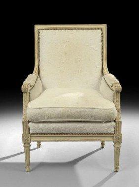 Louis XVI-Style Polychrome Bergere