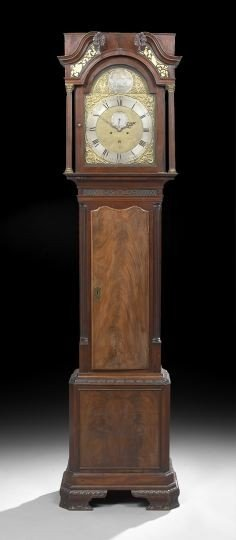 Good George III Mahogany Tall Case Clock
