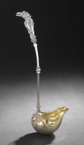 19th Century San Francisco Silver Gilt Ladle
