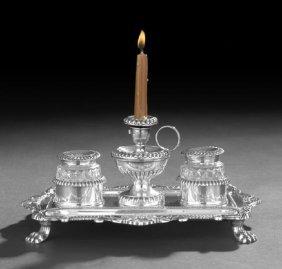 Regency Sterling Silver Inkstand