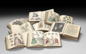 Nine Volumes With Hand-Colored Fashion Plates