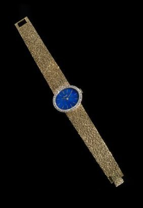 Piaget 18 Kt. Diamond And Lapis Lady's Watch