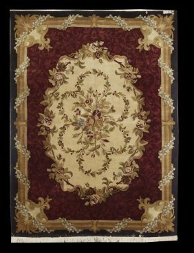 Chinese Aubusson-Style Carpet