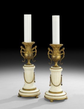 Pair of napoleon iii gilt bronze candlesticks lot 108 for M furniture gallery new orleans