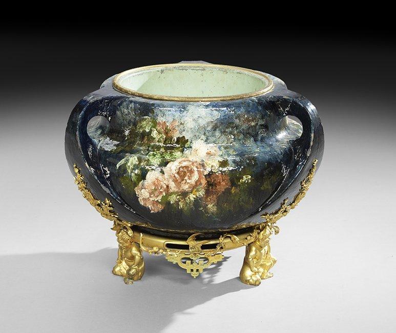 Haviland Art Pottery Impressionist Jardiniere : Lot 767