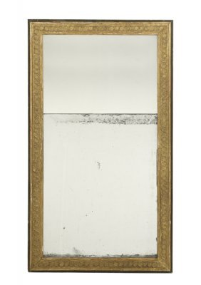 Unusual Continental Giltwood And Walnut Mirror
