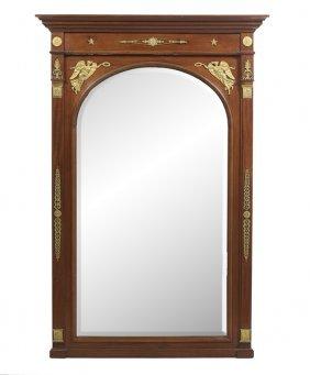 Empire-style Gilt-bronze-mounted Mahogany Mirror