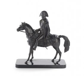 """French Patinated Bronze Of """"napoleon A Cheval"""""""