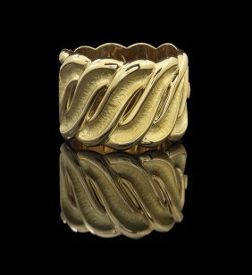 Vendorafa Lombardi 18 Kt. Gold Cuff Bracelet