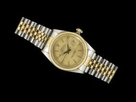Rolex 18 Kt. Yellow Gold And Steel Datejust Watch