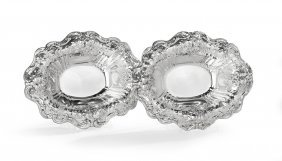 "Pair Of ""francis I"" Silver Vegetable Bowls"