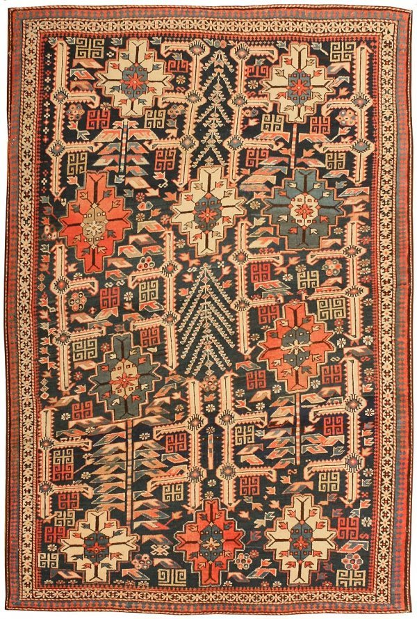 14 Antique Caucasian Shirvan Rug 43304 Lot 14
