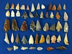 Dealer Lot - 50 Piece Western Arrowheads