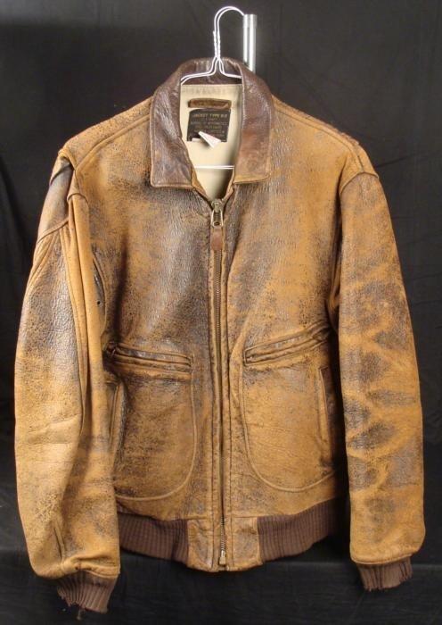 Brown Leather Flying Jacket - Jacket