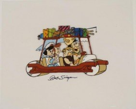Flintstones Signed Original Model Cel Animation Art