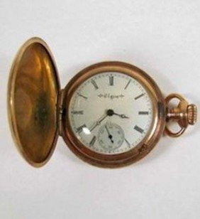 Antique Double Open Case Engraved Pocket Watch  MWF122