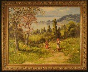 Lazlo Neogrady Original Painting Women In Field