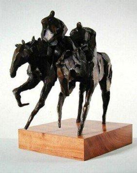 Jean Richardson Signed LE Bronze GEMINI Horse Art