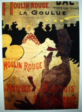 At The Moulin Rouge 22 X 17 1/2 Limited Giclee