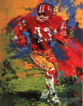 End Around By LeRoy Neiman S/N Serigraph