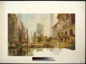 Chicago Michigan Avenue Rare Printer's Proof Art Print