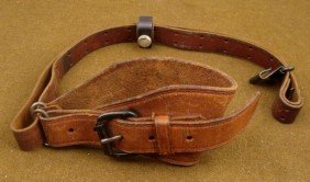 WWII M1 TYPE LEATHER SLING AND SHOULDER HARNESS