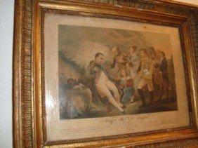 Antique French Engraving Napoleon Bonaparte Circa 1830